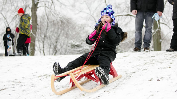 Beat cabin fever with sledding and other winter activities.