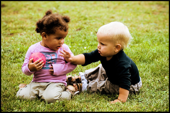 How to teach your child to behave and share when playing with other kids.