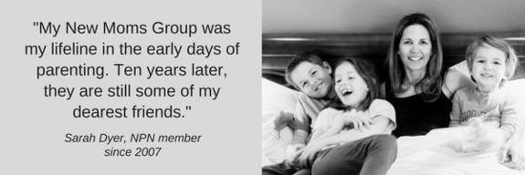 New Moms Group testimonial