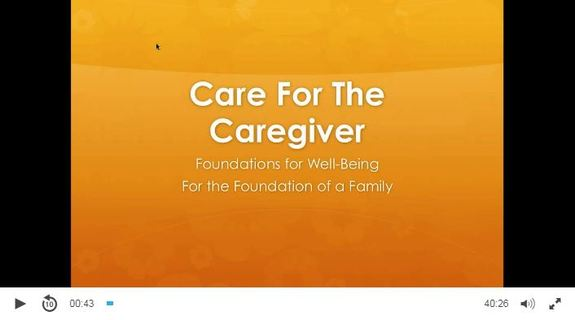 Care for the Caregiver video