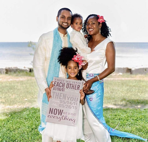 Keisha Mathews and family