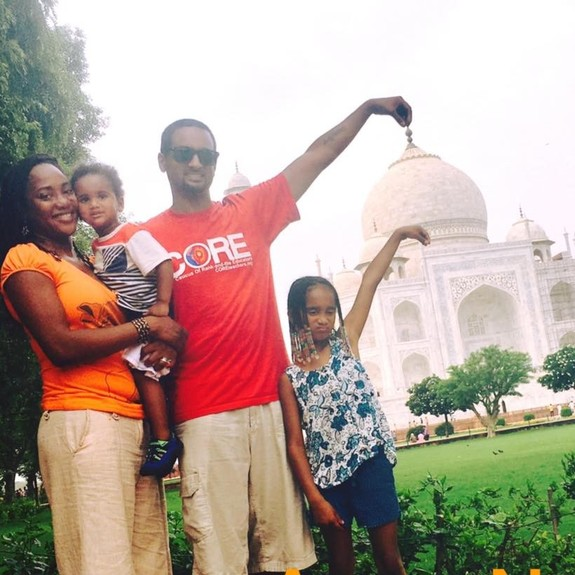 Keisha Mathew and family