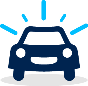 Sparkl car icon onwhite