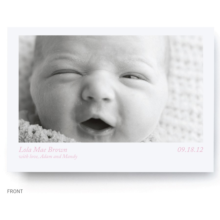 Voila! Birth Announcement