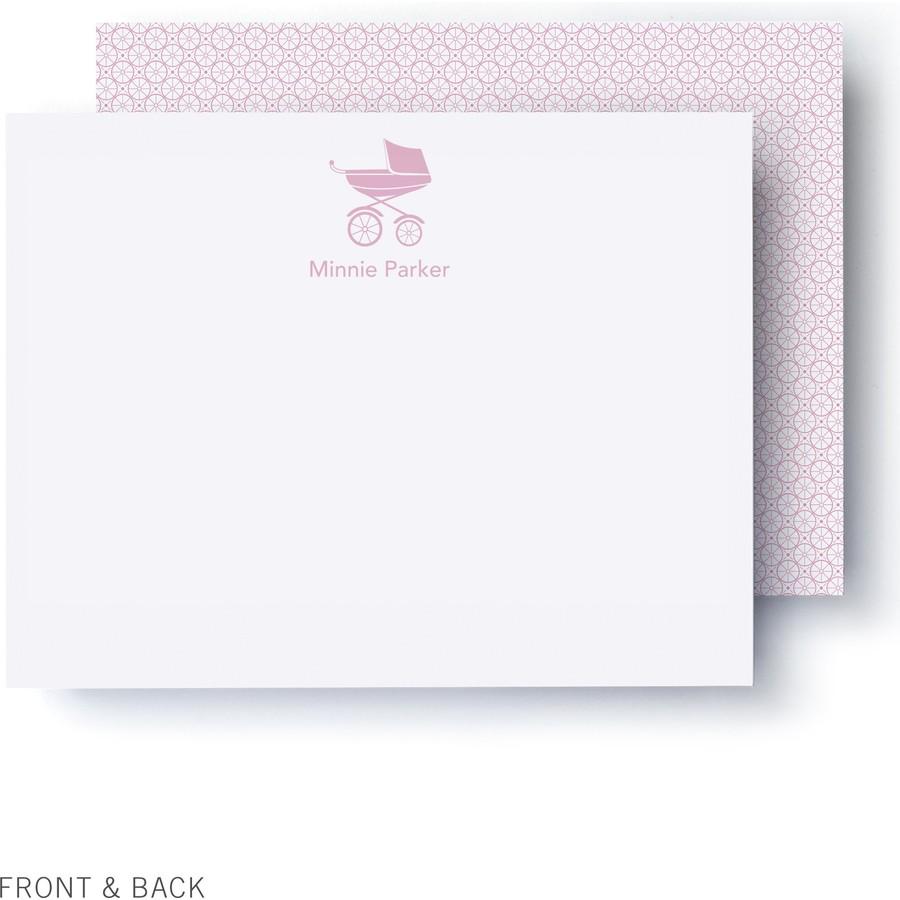 Pink Pram Thank You Card