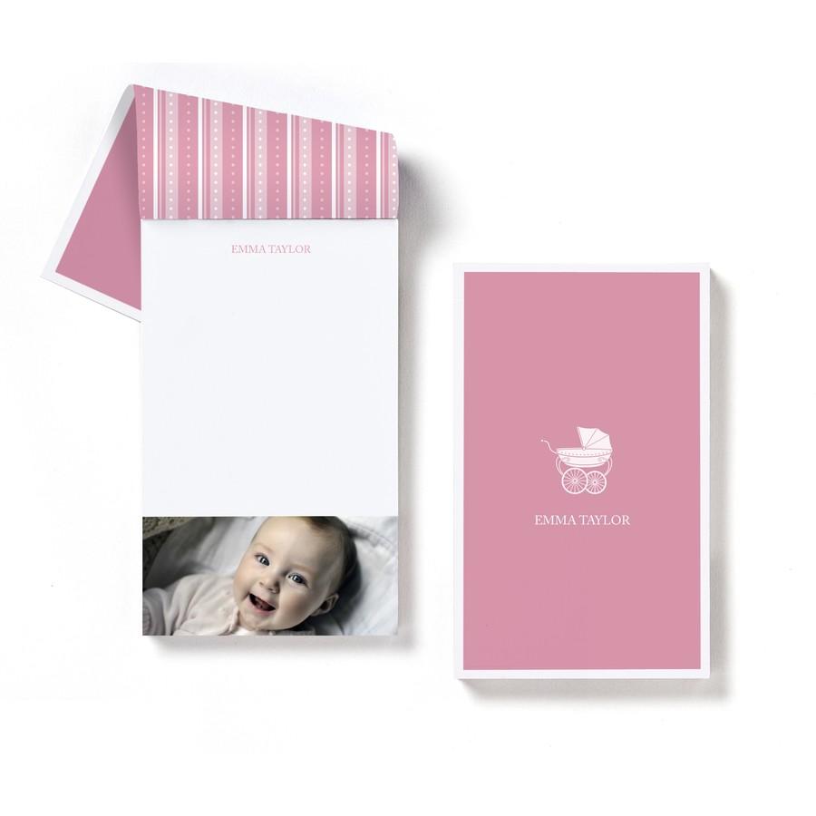 Pram Baby Girl Notepad