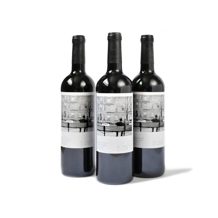 Polaroid Style Custom Wine Label