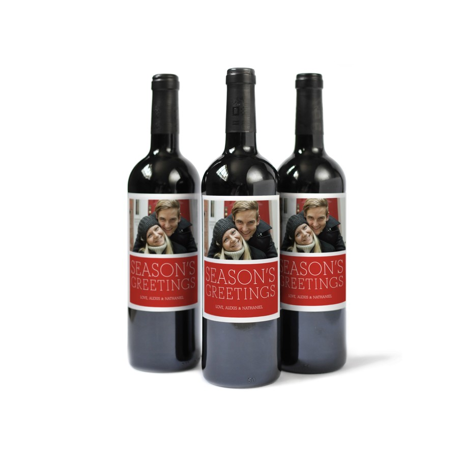 Custom Wine Label for the Holidays