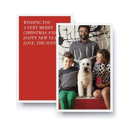 Jumbo Portrait Holiday Card