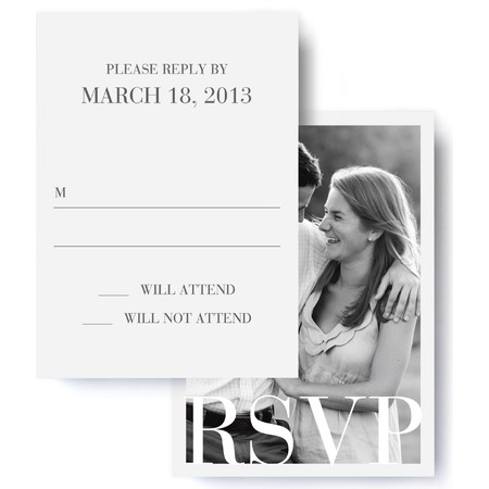 Sophisticate Wedding RSVP