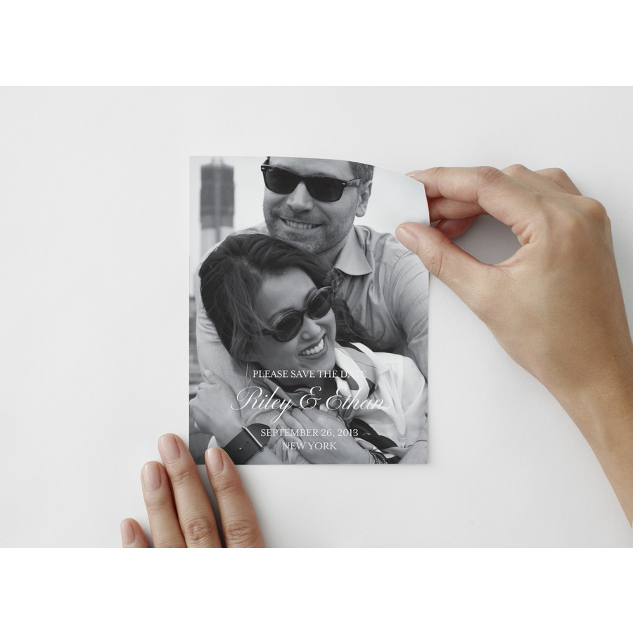 Black Tie Save The Date Photo Decal