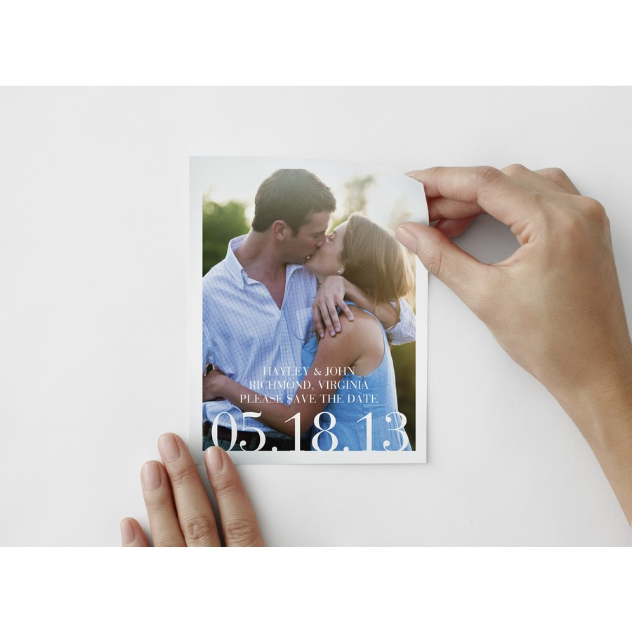 Sophisticate Save The Date Photo Decal