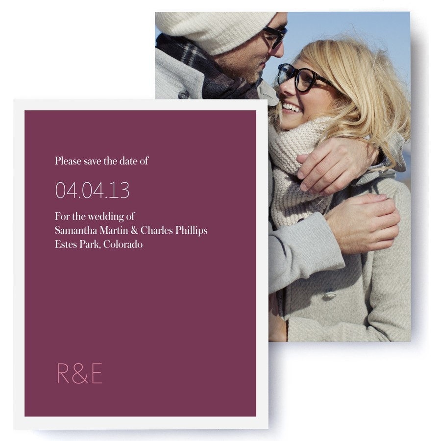 Modern Monogram Photo Save The Date Cards