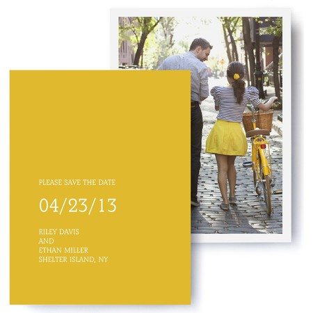 Tailored Photo Save The Date Cards