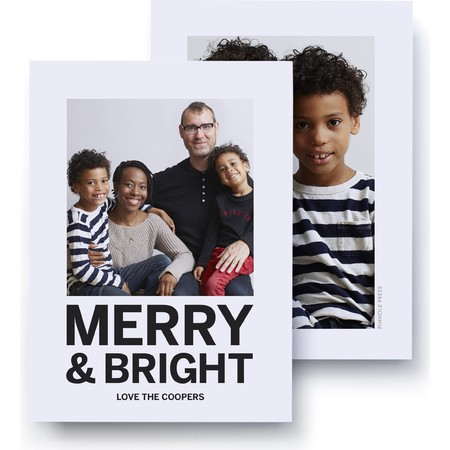 Merry and Bright Classic Photo Card