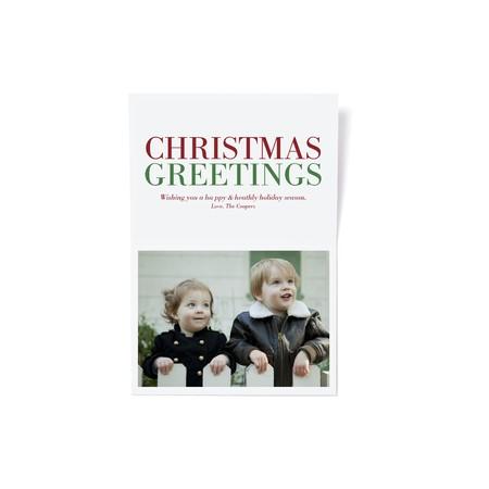 Christmas Greetings Holiday Photo Card