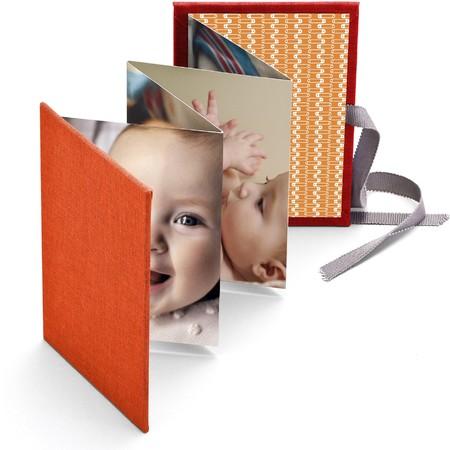 Baby Brag Book with Orange Fabric