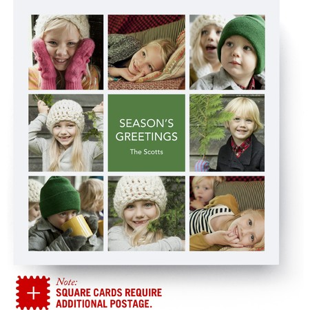Family Squares Holiday Photo Card
