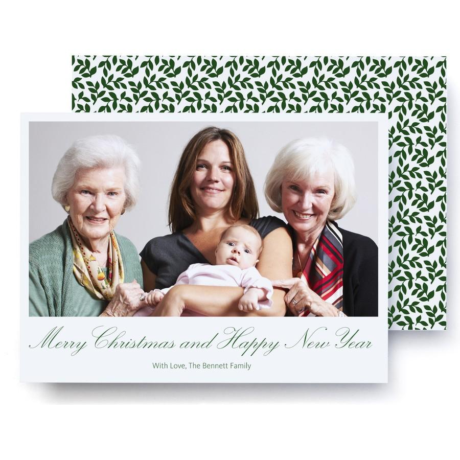 Green Vines Holiday Photo Card