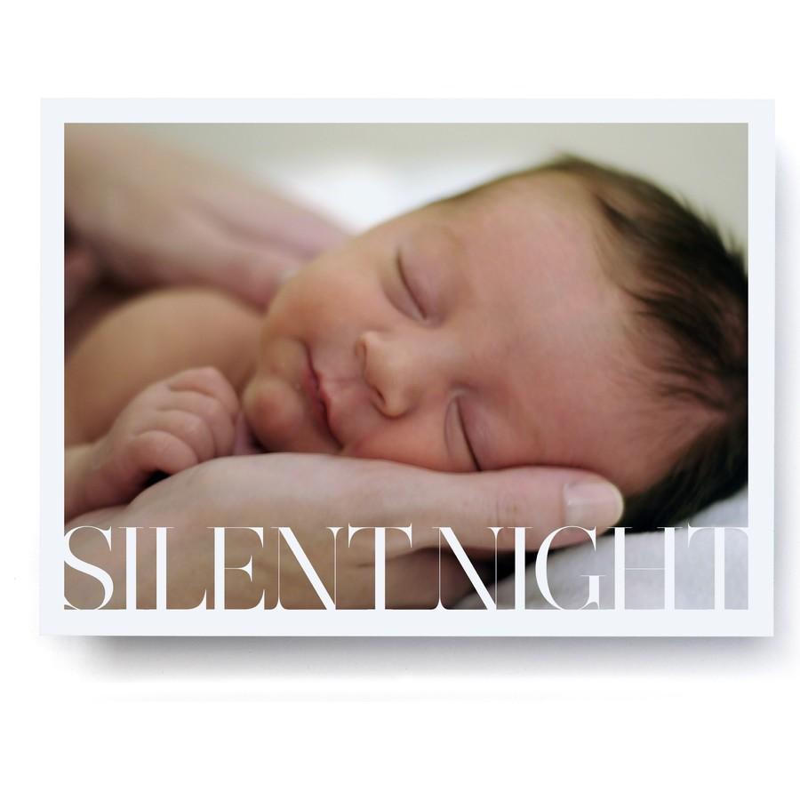 Silent Night Holiday Photo Card