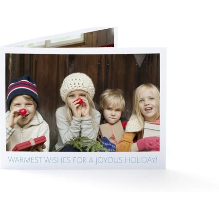 Warmest Wishes Folded Photo Card
