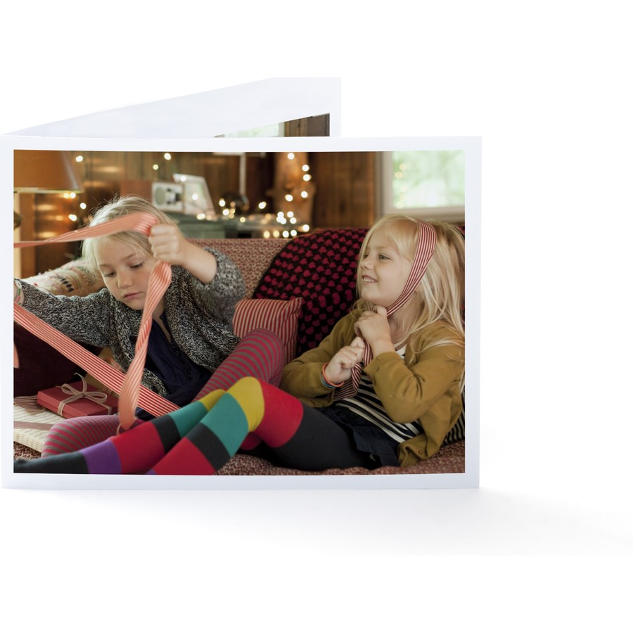 Frameable Holiday Wishes Folded Card