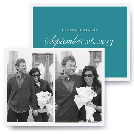 Jolie Script Photo Save The Date Cards