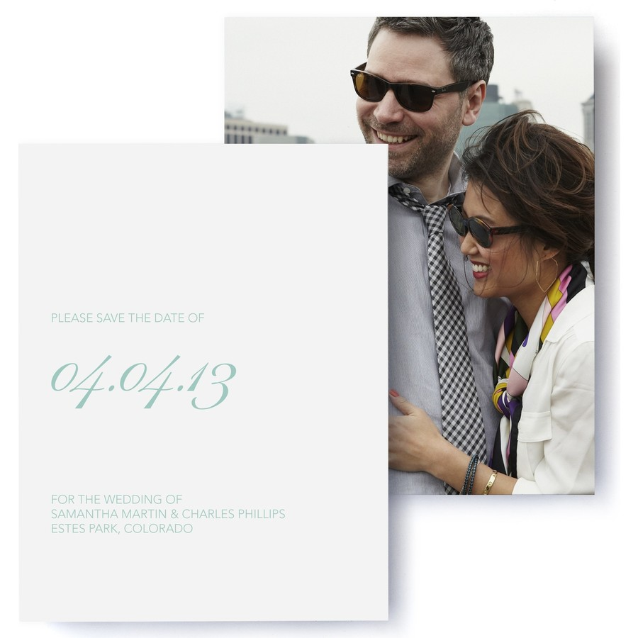 Fête Photo Save The Date Cards