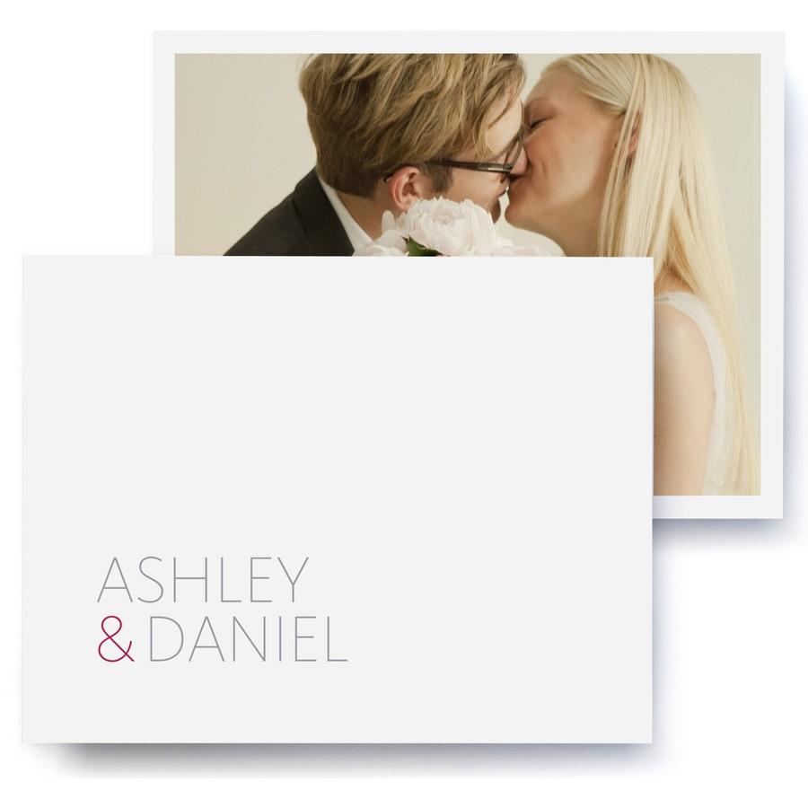 Duet Wedding Thank You Cards
