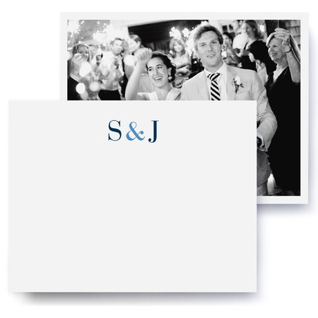 Classic Monogram Wedding Thank You Cards