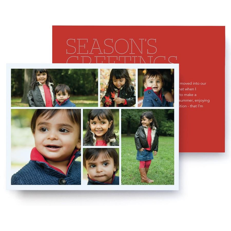 Christmas Letter Photo Card   Pinhole Press
