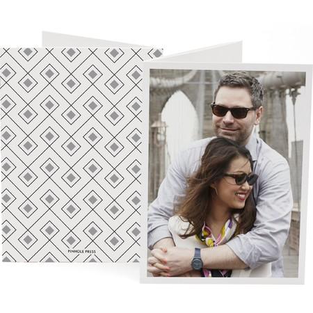 Platinum Trifold Photo Card   Happy Holidays Envelopes