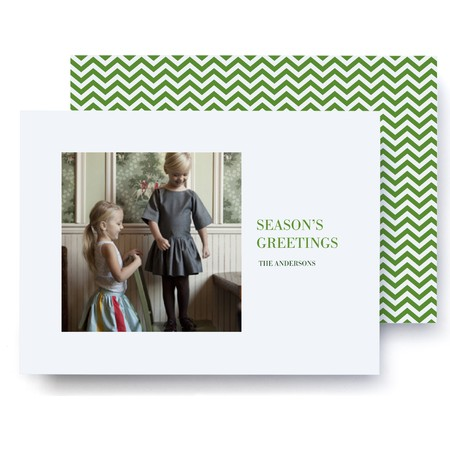 Chevron Greetings Holiday Card