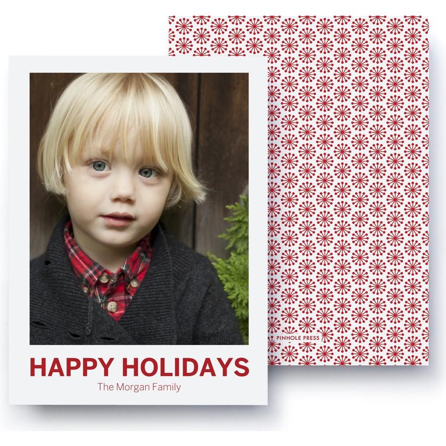 Happy Holidays Polaroid Card