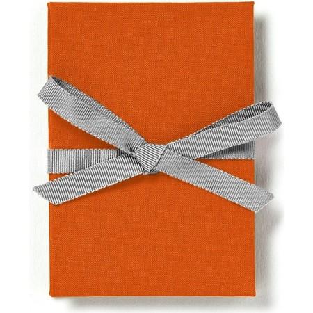 Brag Book with Orange Fabric