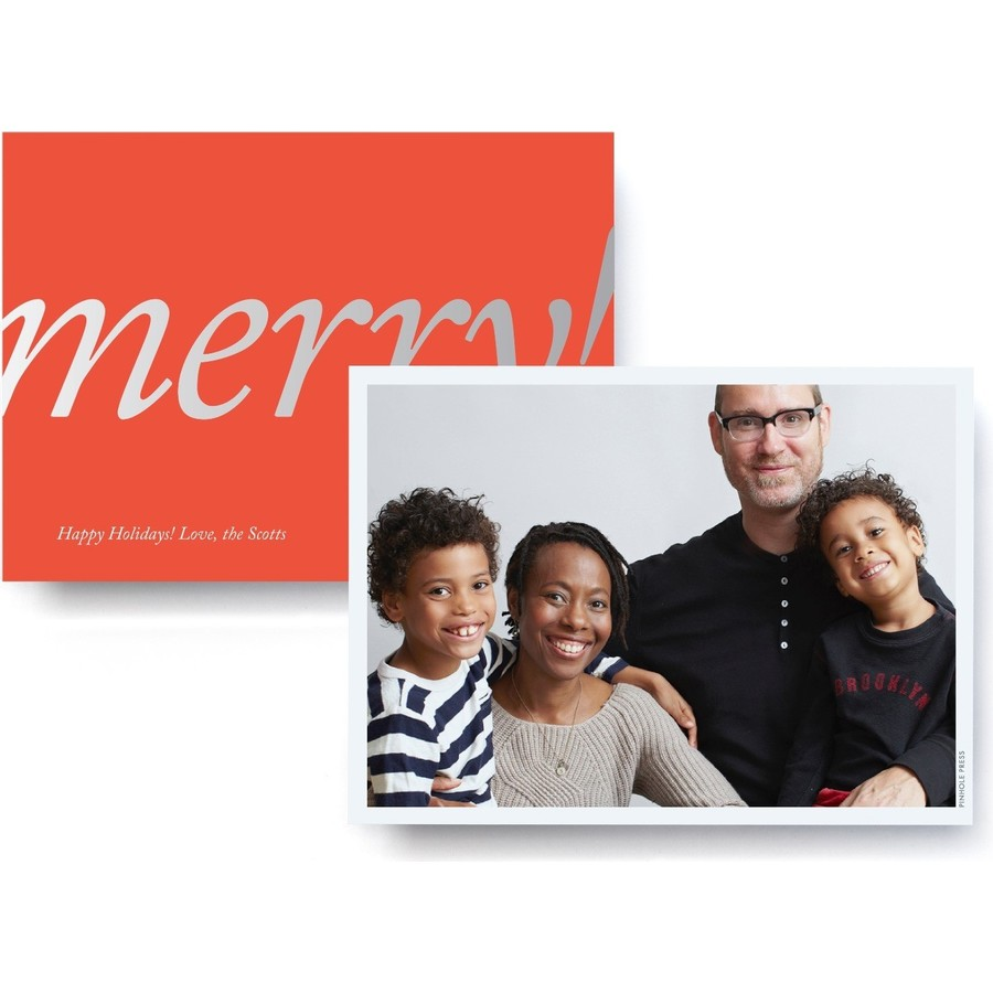 Merry! Foil Red Photo Card