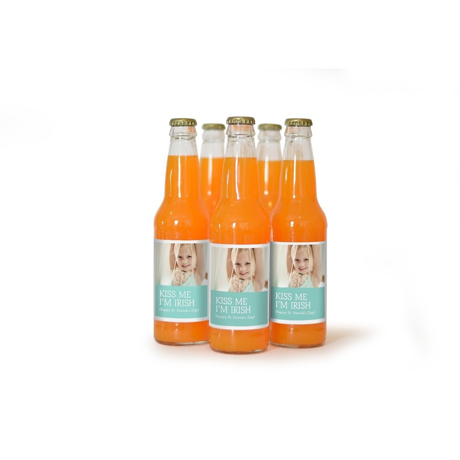 Teal Soda Bottle Label for St. Patrick's Day
