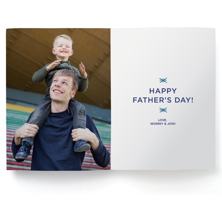 Father's Day Photo Card, Detail