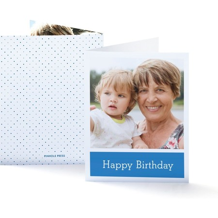Gift Box Birthday Card, Front and Back