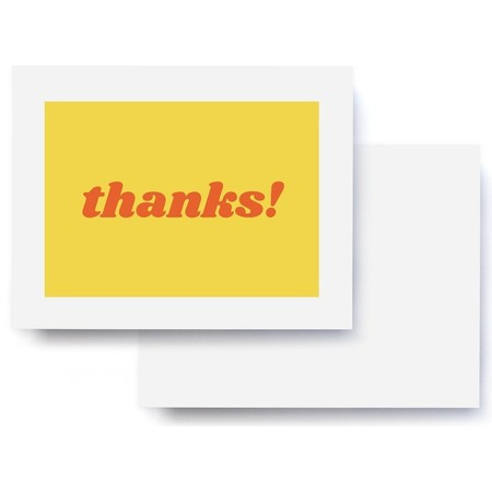 thanks! Yellow & Red Thank You Card
