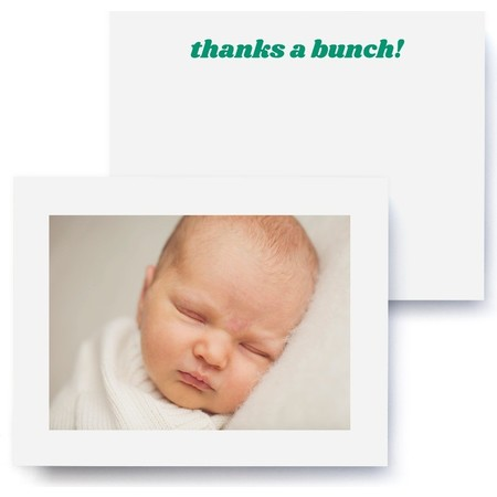 Thanks a Bunch Photo Thank You Card
