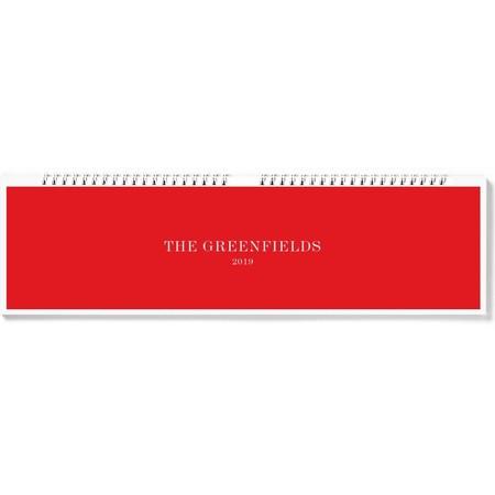 Photo Desk Calendar, Red Cover
