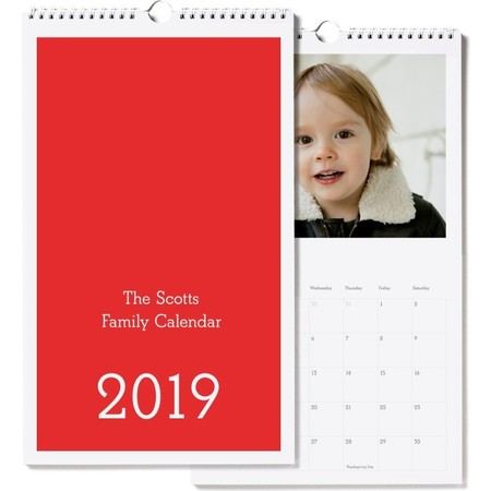 2019 Classic Medium Wall Calendars, Red