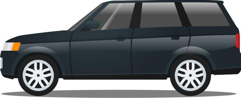 SUV cartoon graphic
