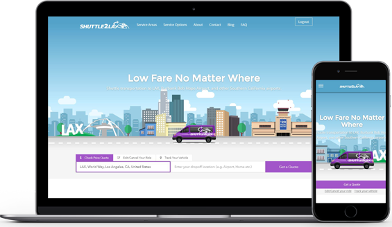 New Shuttle to LAX Website