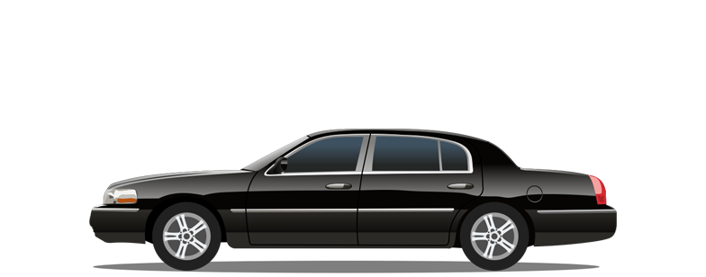Executive Sedan Cartoon Graphic