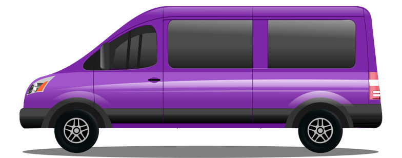 Private Van Cartoon Graphic