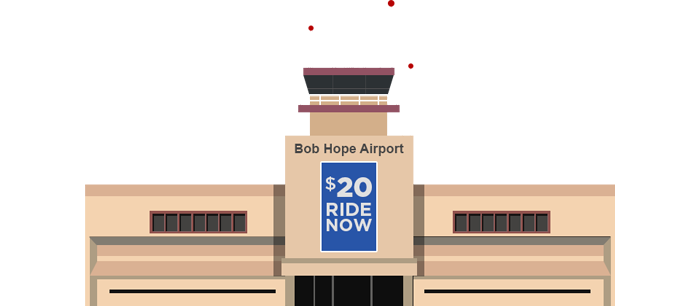 Burbank Bob Hope Airport Cartoon Graphic