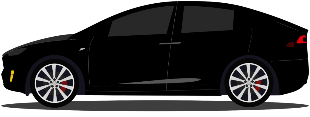 Tesla X Cartoon Graphic