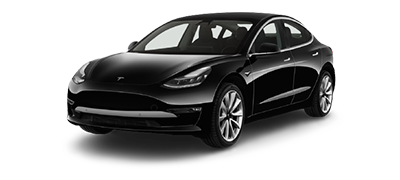 Tesla 3 Cartoon Graphic